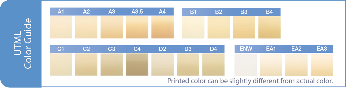 Zirconia UTML Color Guide